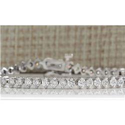 4.20 CTW Natural Dimond Bracelet In 14k Solid White Gold
