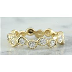 0.55 CTW 18K Yellow Gold Diamond Ring