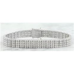 7.10 CTW Diamond 18K White Gold Bracelet