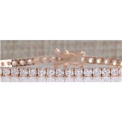 4.20 CTW Natural Diamond Bracelet In 18K Rose Gold