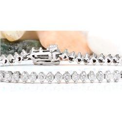 4.20 CTW Natural Diamond 18K Solid White Gold Bracelet