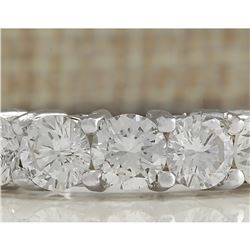 2.56 CTW Natural Diamond Ring In 18K Solid White Gold