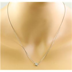 0.10 CTW 14K White Gold Diamond Necklace
