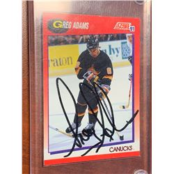 Greg Adams Canucks Score 91 NHL Card