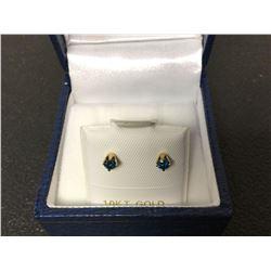 10KT Gold Sapphire Stud Earrings