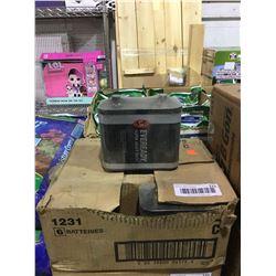 Case of 6 Eveready Super Heavy Duty Lantern 6V Batteries