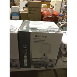 UberHaus Table Lamp Chrome Finish Base