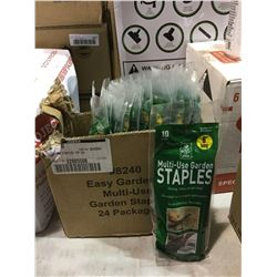 "Case of 10 6"" Multi-Use Garden Staples (24 ct)"