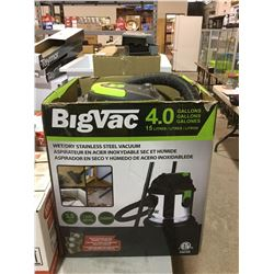 Big Vac 4.0 Gallon Wet/Dry Stainless Steel Vacuum