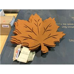 "Maple Leaf Reversible Placemat - (18"" x 18"") Lot of 10"