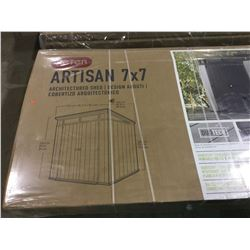 NEW IN BOX KeterRESIN Artisan Architectured Shed 7x7