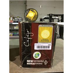 Case of Cafejo SingleServe Cups - Lemon Sunrise Black Tea