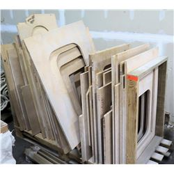 Various Kitchen and Lav Sink Templates from Solid Surface Fab Shop