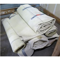 Qty 6 Rolls of Beige Carpeting