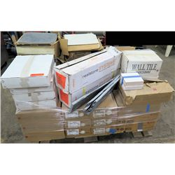 Pallet Misc Tiles - Stone Tile, 4x4 Bath Tile, 4x8 Subway Tile, 12x12 VCT, etc