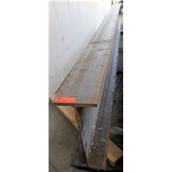 "Steel Support Wide Flange ""I"" Beam, 12ft Long"
