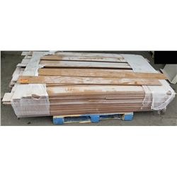 "Pallet of Used Interlocking Solid Wood Flooring 68"" x 5 3/4"""