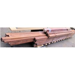 Pallet of 2x/1x Clear Redwood S4S