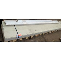 Pallet of Misc Hardi Plank Siding - Primed/Treated 1 x 4