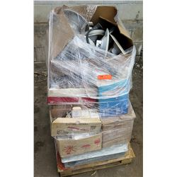 Contents of Pallet: Misc Outlets, Lighting, etc