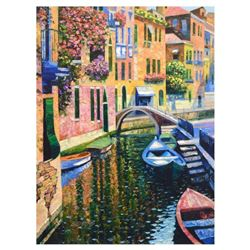 "Howard Behrens (1933-2014), ""Romantic Canal"" Limited Edition on Canvas, Numbered and Signed with COA"