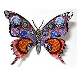 "Patricia Govezensky- Original Painting on Cutout Steel ""Butterfly CCXXXIX"""