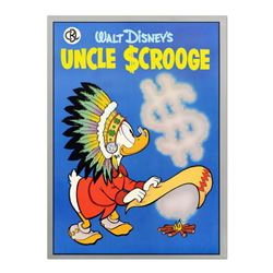 """Uncle Scrooge"" Vintage Disney Serigraph, Dated 1987 with Letter of Authenticity."