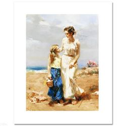 "Pino (1931-2010), ""By The Sea"" Limited Edition on Canvas, Numbered and Hand Signed with Certificate"