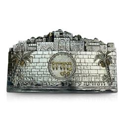 "Raphael Abecassis, ""Jerusalem"" Sterling Silver Electroform Sculpture with Letter of Authenticity."