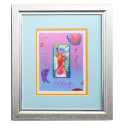 "Peter Max- Original Mixed Media ""Statue of Liberty Ver. #146"""