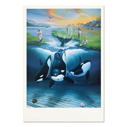 """Keiko's Dream"" Limited Edition Lithograph, Numbered and Hand Signed by Wyland and Jim Warren with C"