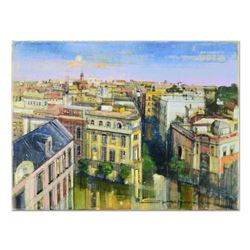 "Alex Zwarenstein, ""Seville After the Rain"" Original Oil Painting on Canvas, Hand Signed with Certifi"