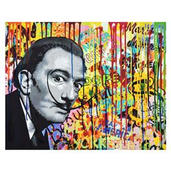 "Nastya Rovenskaya- Mixed Media ""Dali like Mustache"""