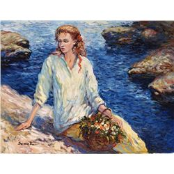"Igor Semeko- Original Giclee on Canvas ""High Tide"""