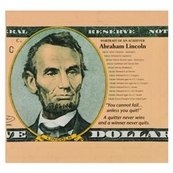 "Steve Kaufman (1960-2010), ""Abraham Lincoln"" Limited Edition Hand Pulled Silkscreen on Canvas, Numbe"