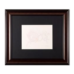 "Guillaume Azoulay, ""Essai AI"" Framed Original Drawing, Hand Signed with Letter of Authenticity."