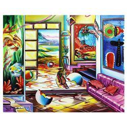 "Alexander Astahov- Original Oil on Canvas ""Gorgeous Mediterranean Sea"""