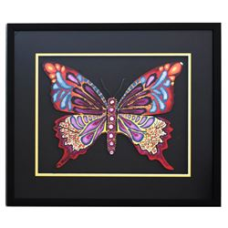 "Patricia Govezensky- Original Painting on Laser Cut Steel ""Butterfly CCXIX"""