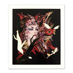 "Martiros Manoukian, ""Sophisticated Glance"" Limited Edition Serigraph, Numbered and Hand Signed with"