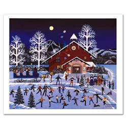 """Moonlight Merriment"" Limited Edition Lithograph by Jane Wooster Scott, Numbered and Hand Signed wit"