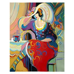 """Isaac Maimon, """"Elle"""" Original Acrylic Painting, Hand Signed with Certificate of Authenticity."""