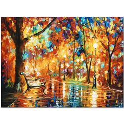 """Leonid Afremov (1955-2019) """"Burst of Autumn"""" Limited Edition Giclee on Canvas, Numbered and Signed."""