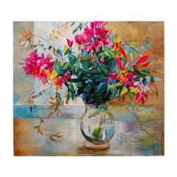 """Lenner Gogli, """"Abundant Blooms"""" Limited Edition on Canvas, Numbered and Hand Signed with Letter of A"""
