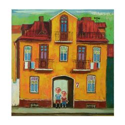 Mikheil Mikaberidze, Original Oil Painting on Canvas, Hand Signed Inverso with Certificate of Authen