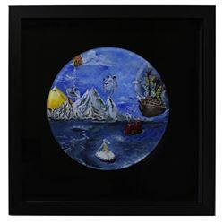 """Eugene Poliarush- Original Acrylic Painting on Acrylic """"Storm"""""""