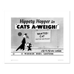 """""""Cats-A-Weigh (Wanted Cat)"""" Numbered Limited Edition Giclee from Warner Bros. with Certificate of Au"""