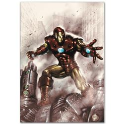 """Marvel Comics """"Indomitable Iron Man #1"""" Numbered Limited Edition Giclee on Canvas by Lucio Parrillo"""