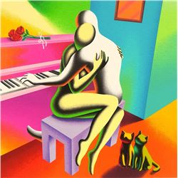 "Mark Kostabi ""THE RIGHT NOTES"" Original Serigraph"