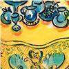 "Image 2 : Wayne Ensrud ""Yellow Table at Chateau D'Yquem"" Mixed Media Original Artwork; Hand Signed; COA"