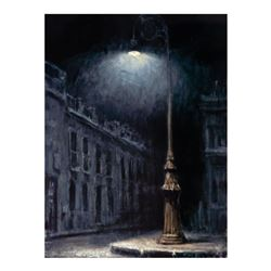 "Fabian Perez, ""El Farol"" Hand Textured Limited Edition Giclee on Board. Hand Signed and Numbered 8/1"